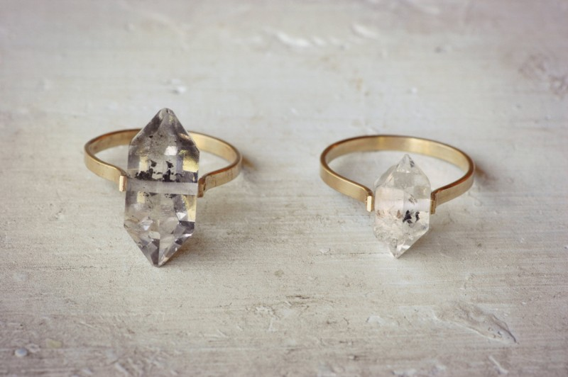 herkimer diamond ring | bridesmaid gift ideas https://emmalinebride.com/gifts/bridesmaid-gift-ideas/