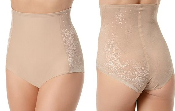 high-waisted shapewear underwear via What to Wear Under the Dress