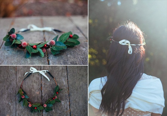 Bridal Hair Crowns - holiday / winter wedding