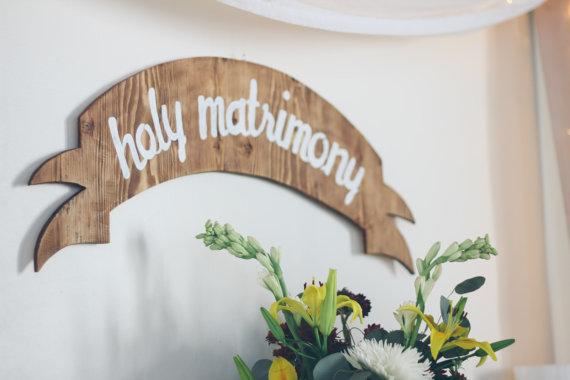 holy matrimony wedding banner
