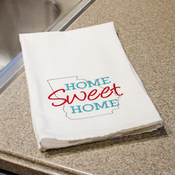 home sweet home tea towel by forshee designs