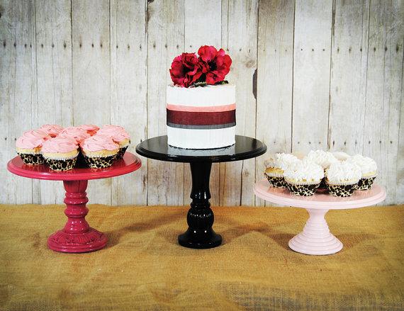 Handmade Wedding Cake Stands (by Roxy Heart Vintage via EmmalineBride.com) #handmade #wedding