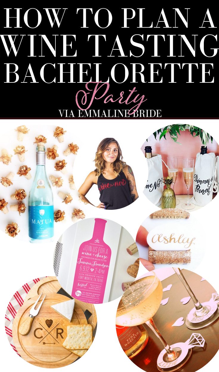 how to plan a wine bachelorette party via emmalinebride