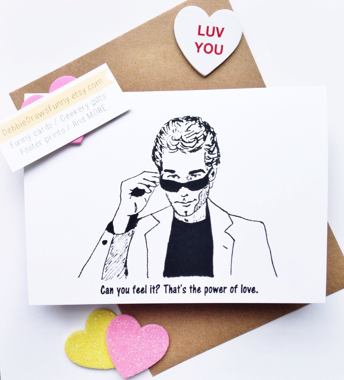huey lewis valentines day card power of love - via funny valentine cards etsy from EmmalineBride.com