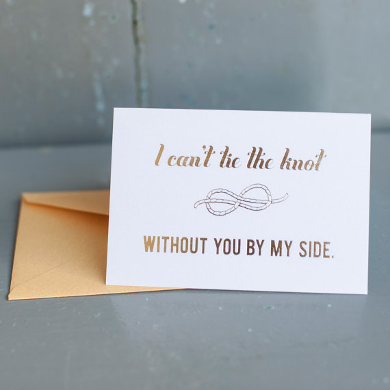 Be My Bridesmaid?  6 Creative Ways to Say It - card: starboard press