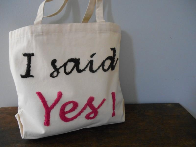 i said yes tote bag 2