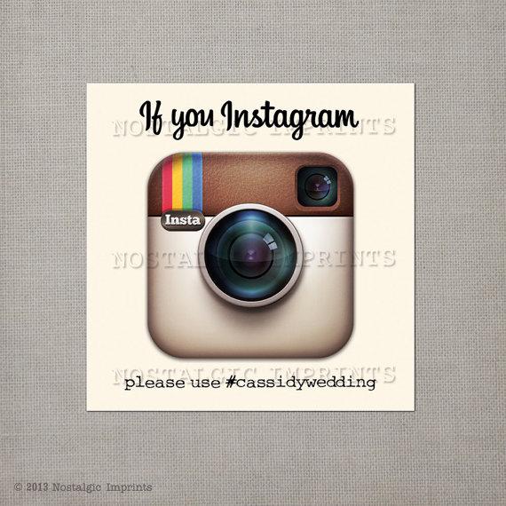 5 Ways to Embrace Social Media at Weddings - instagram sign by nostalgic imprints