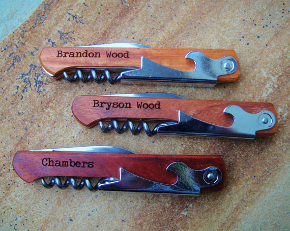 groomsmen corkscrew gifts - Best Groomsmen Gifts