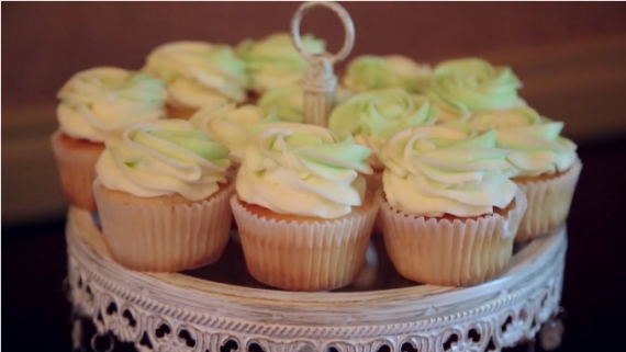 wedding cupcakes at reception