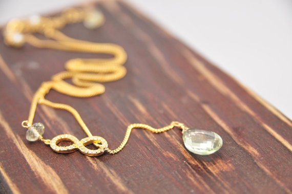 Wedding Jewelry for Mom - infinity necklace (by lillyput lane design co.)
