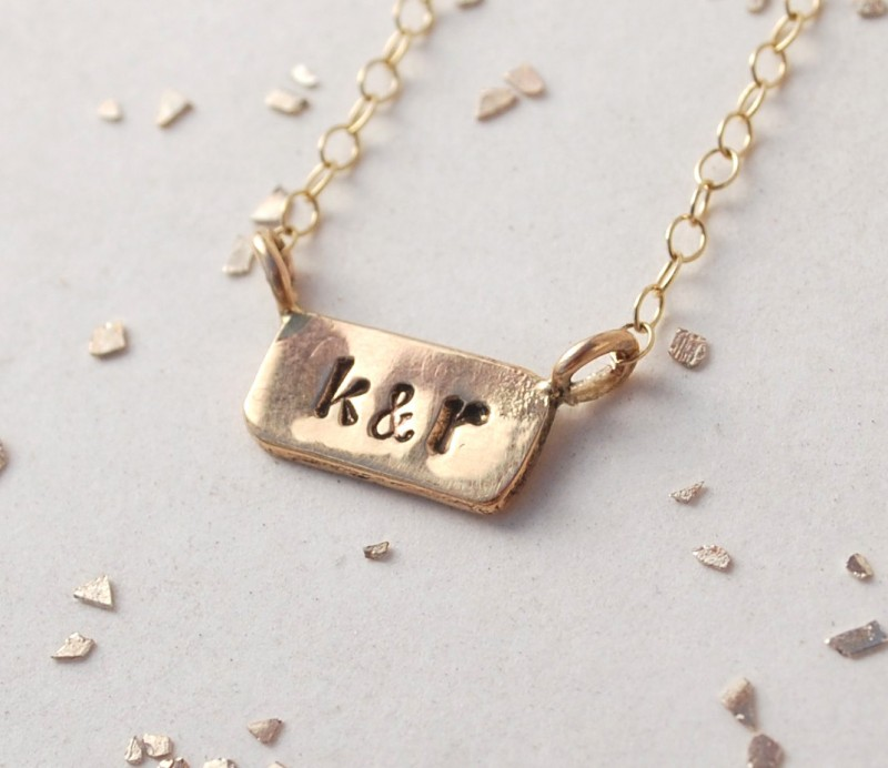 initial necklace via Monogram Gift Ideas Bridesmaids from EmmalineBride.com