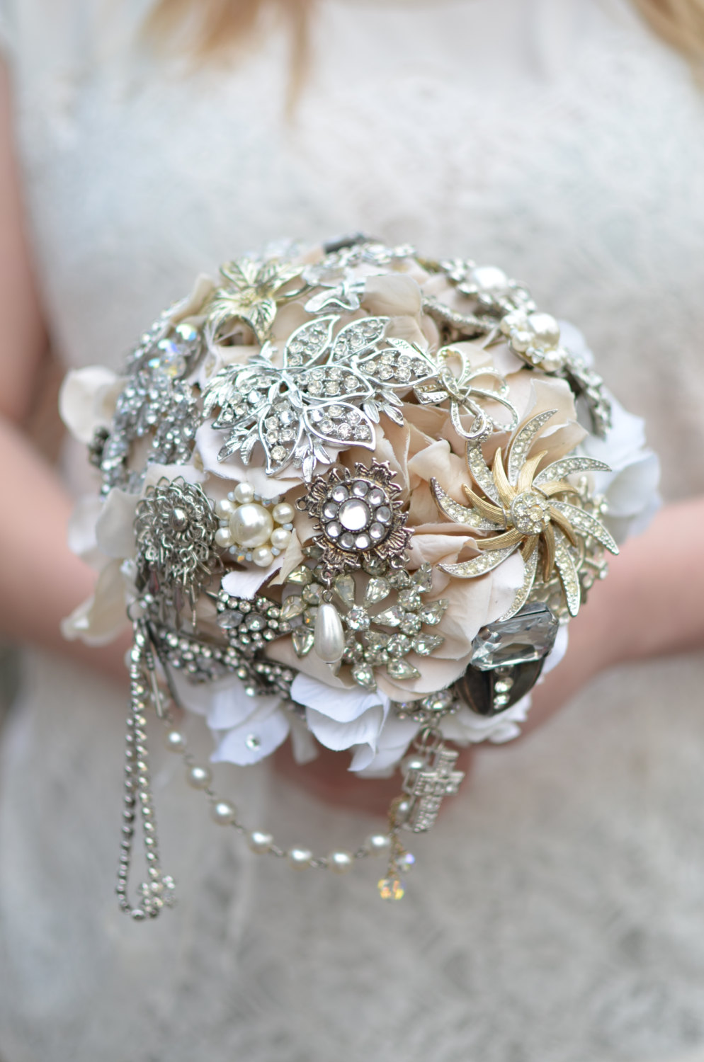 ivory brooch bouquet large