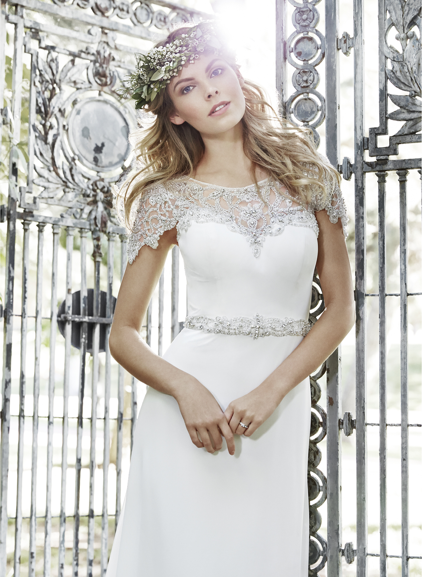 JUNIPER | Sheath Wedding Dresses by Maggie Sottero | via EmmalineBride.com