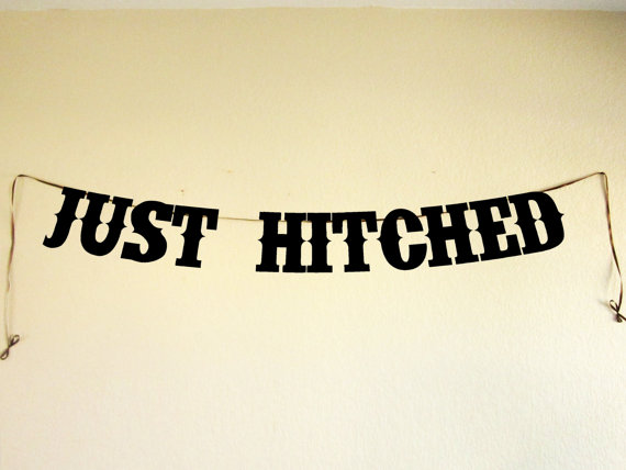 just hitched - wedding banners