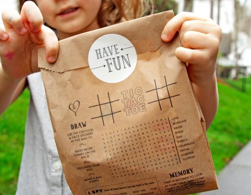 Cute idea for kids favor bags at weddings! By Mavora.   favor ideas kids weddings   https://emmalinebride.com/decor/favor-ideas-kids-weddings/