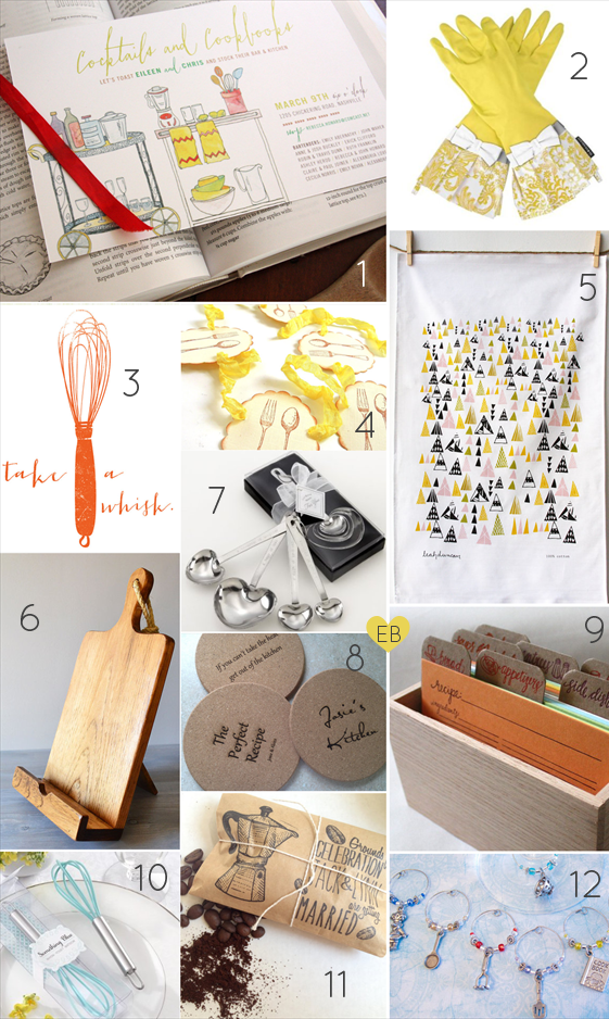 Planning a Bridal Shower - Kitchen Theme (via EmmalineBride.com)