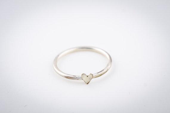 silver heart ring | via emmalinebride.com