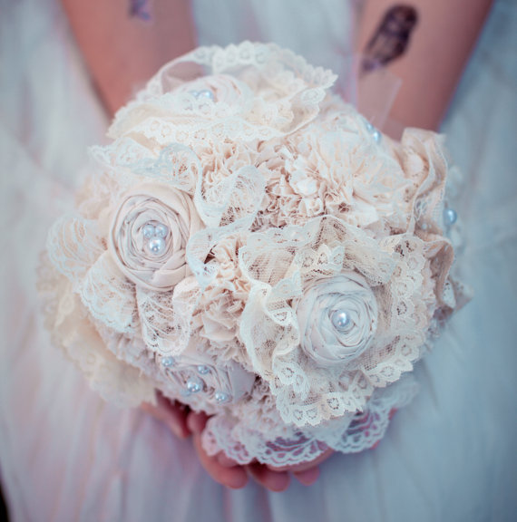 lace bridal bouquet