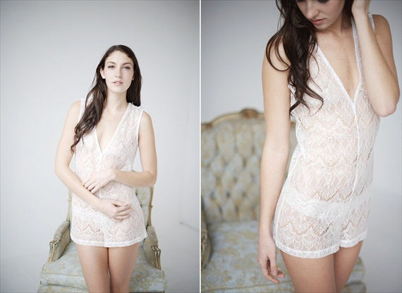lace bridal nightgown - bridal lingerie (by Tessa Kim)