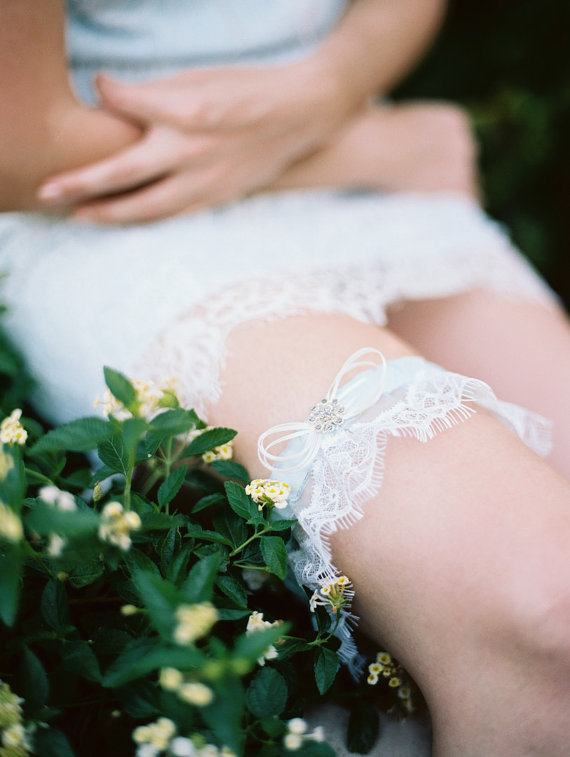 lace garter by marisol aparicio - lace accessories weddings