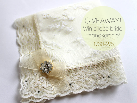 lace handkerchief giveaway