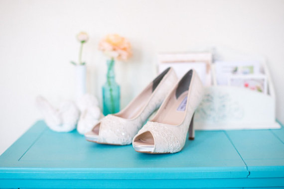 Lace Wedding Heels| Becca & Louise via EmmalineBride.com