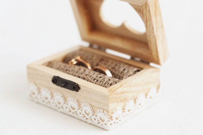 lace ring box by miss vintage - lace accessories weddings