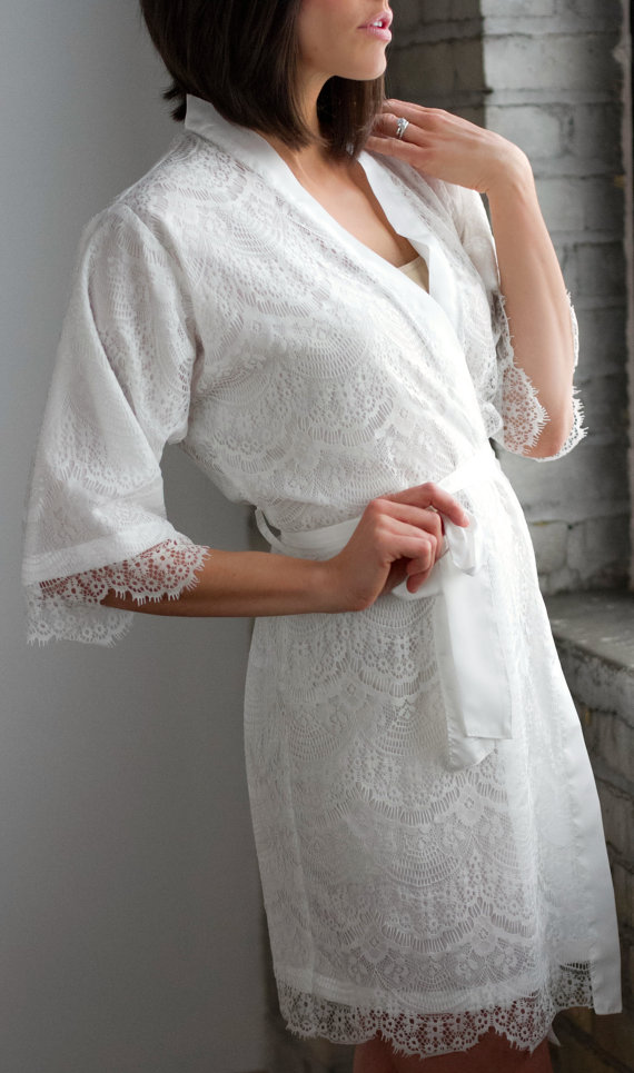 lace robe by walkinonair - lace accessories weddings