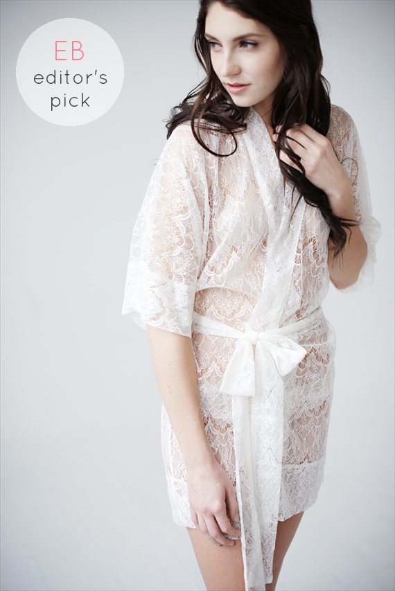 lacy robe - emmaline bride editors pick (by Tessa Kim)
