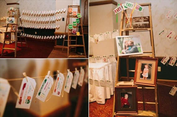 DIY Fall Wedding - Photo by Noelle Ann Photography - #reception #decor #ladder #escort-card #display