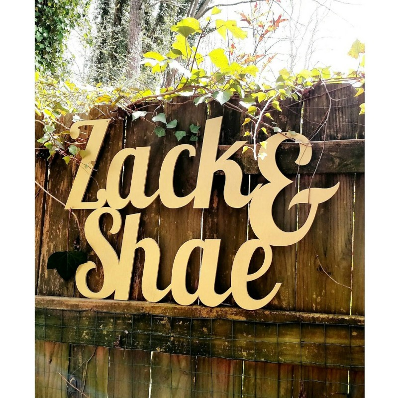 Large Wooden Name Signs | http://emmalinebride.com/decor/large-wooden-name-signs/