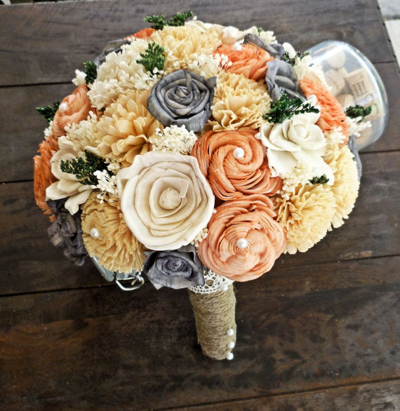 large sola wedding bouquet