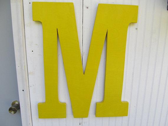 reusable wedding decorations - large wooden monogram letter