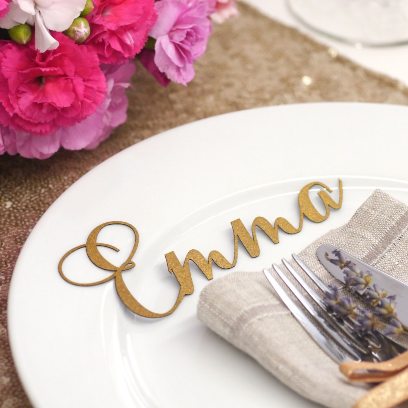 laser cut place card names