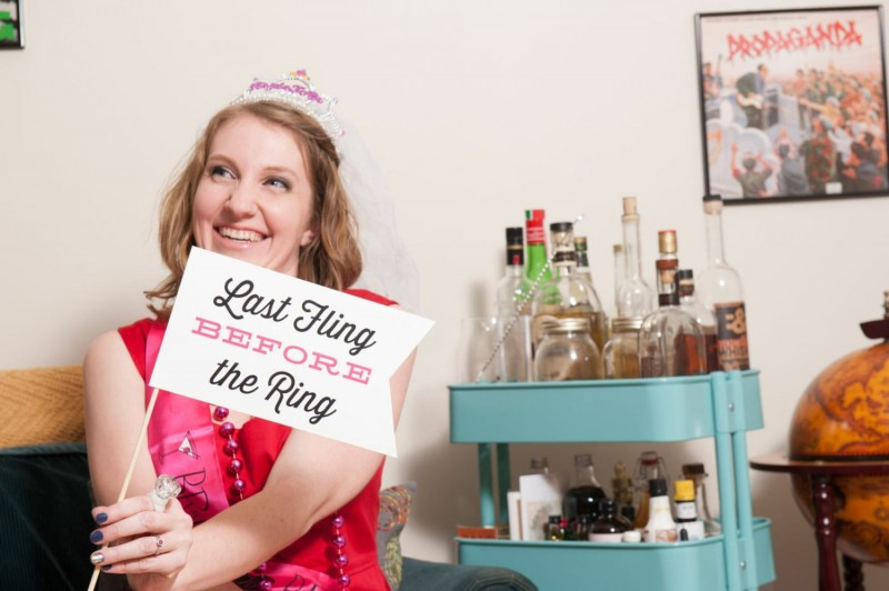 last fling before the ring | Fun Wedding Photo Props | http://emmalinebride.com/decor/fun-wedding-photo-props/
