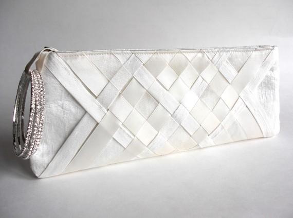 wedding wristlet - lattice keep bag 2