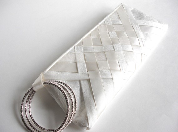 wedding wristlet - lattice keep bag
