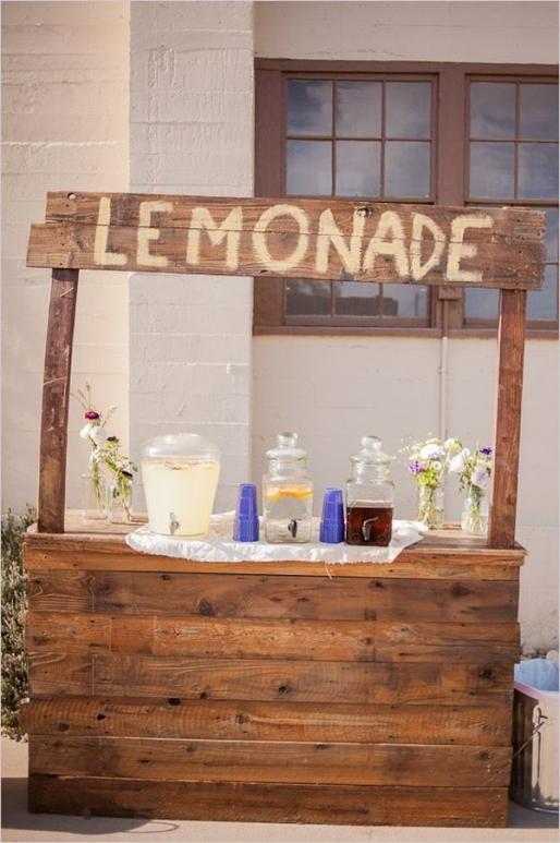 lemonade bar wedding