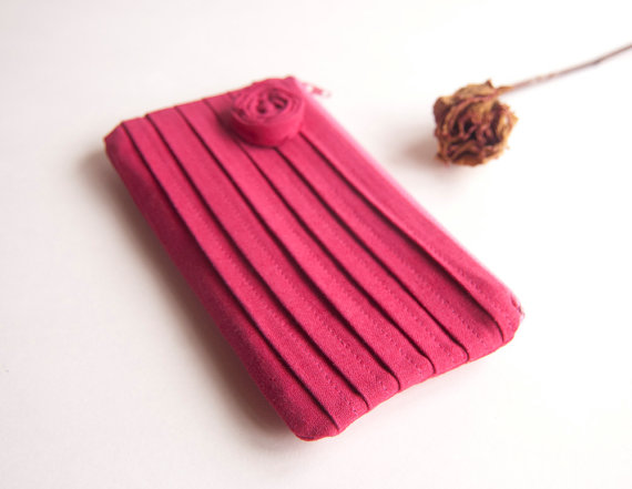 pleated bridesmaid clutch