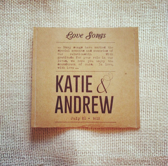 cd favor cases by lorustique | via favor ideas weddings https://emmalinebride.com/favors/favor-ideas-weddings/
