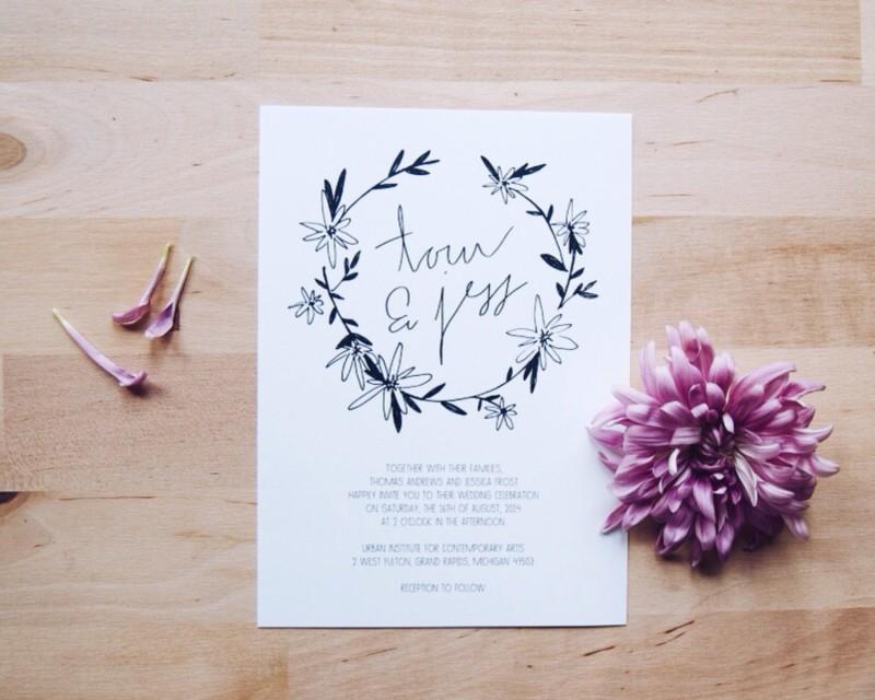 lost and sound daisy wedding invitation | daisy ideas theme weddings
