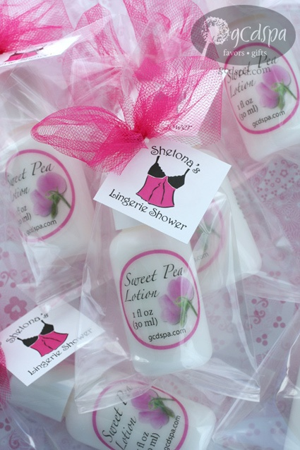 lotion bridal shower favors