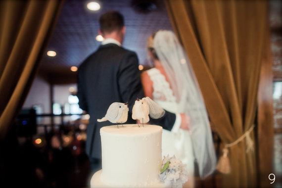 Bird Wedding Accessories - bird cake topper by Cinnamonbirds