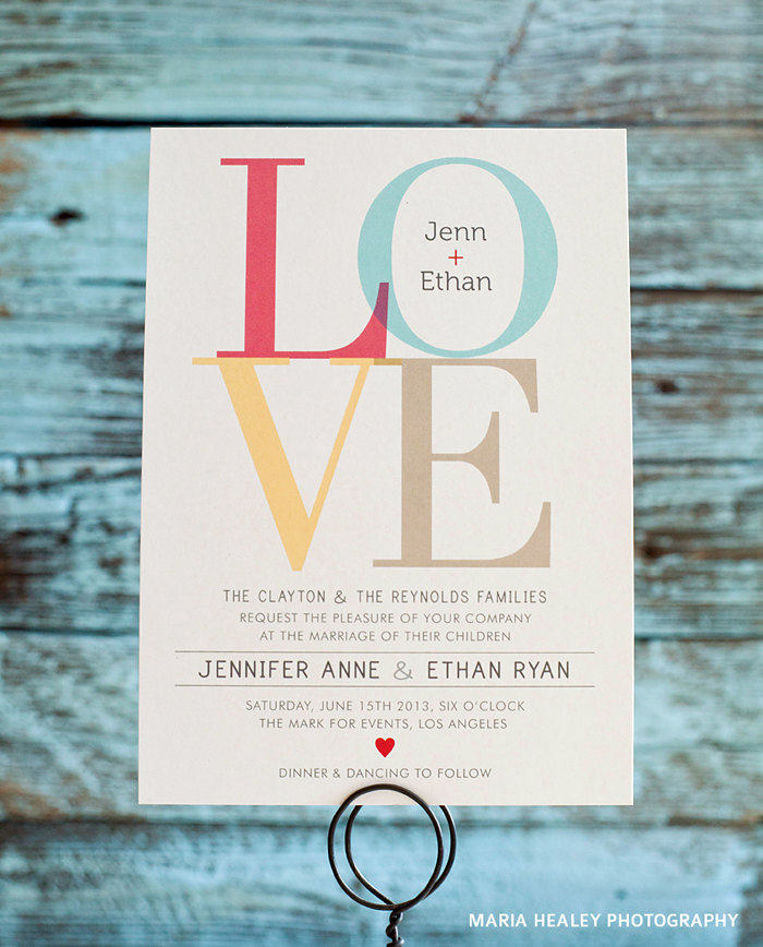 love invitations wedding