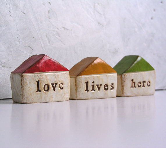 wedding gift ideas from a to z - love lives here houses by skyeart