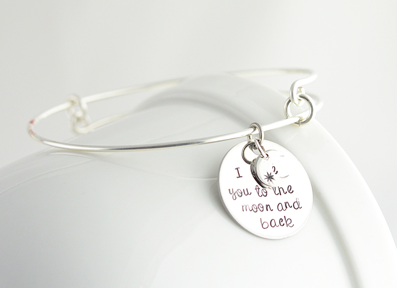 love you to the moon and back bracelet | via https://emmalinebride.com/2015-giveaway/love-you-to-the-moon-and-back-bracelet/