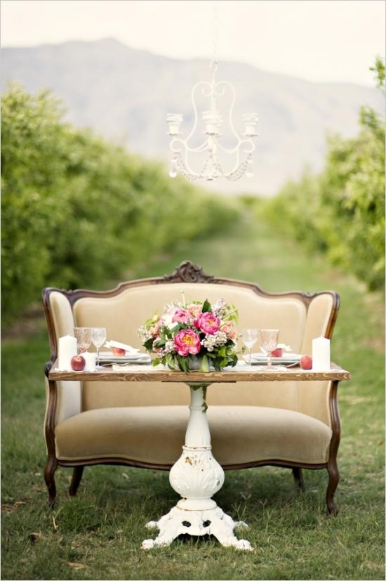 loveseat sweetheart table