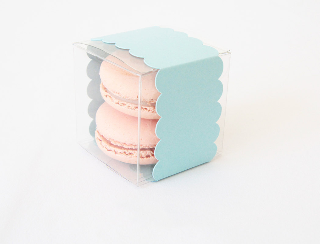 macaron in a box | via 7 Things to Know About Giving Macaron Favors https://emmalinebride.com/favors/giving-macaron-favors/