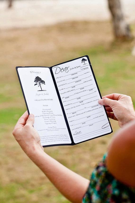 Are Wedding Programs Required? via EmmalineBride.com - mad libs by Pura Vida Creative