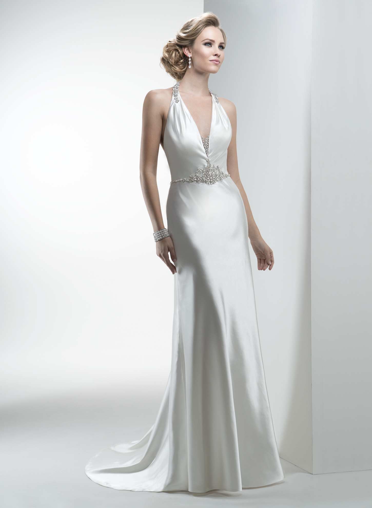 ZAYN | Sheath Wedding Dresses by Maggie Sottero | via EmmalineBride.com